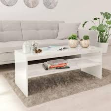coffee table high gloss white 100x40x40