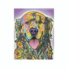 Golden Retriever Dean Russo Vinyl Dog Car Sticker Doggy Style Gifts