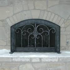 wrought iron fireplace screens mather