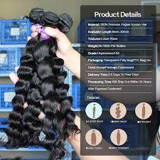 6a 7a peruvian virgin hair with closure