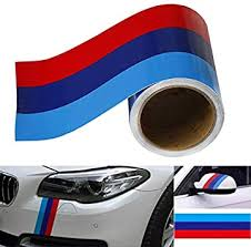 Amazon Com Just N1 M Colored Stripe Sticker 3 Meters Car Vinyl Decal For Bmw M3 M4 M5 M6 3 5 6 7 Series Exterior Interior Cosmetic Hood Roof Bumpers Decoration Automotive