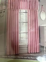 Princess Kids Room Pink Beaded Curtain And Valance Set Ebay