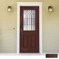 frosted exterior prehung doors with