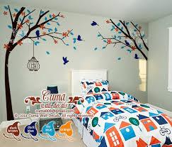 Tree And Birds Wall Decal Nursery Wall By Cuma Wall Decals On Zibbet