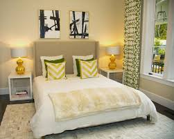 yellow and green bedroom contemporary