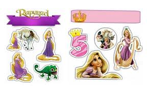 Rapunzel Toppers Para Tartas Tortas Pasteles Bizcochos O Cakes