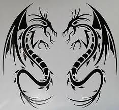Large Dragon Tribal Tattoo 6 Vinyl Car Bonnet Wall Sticker Decal Ws1036