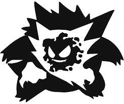 Amazon Com Panwenjuan Gastly Haunter Gengar Evolution Decal Car Decal Car Stickers Window Decal Wall Sticker Decal Sticker Car Truck Window Die Cut Vinyl 15x12 Cm White Black Kitchen Dining