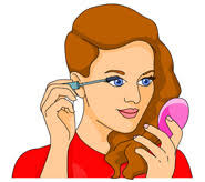 putting on makeup clipart