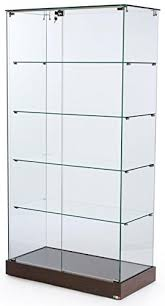 tempered glass frameless tower display