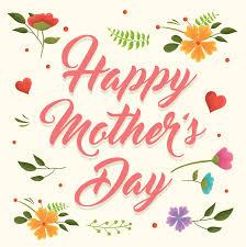 Feliz Dia De La Madre Ilustracion En Ingles Celebrado En Espana