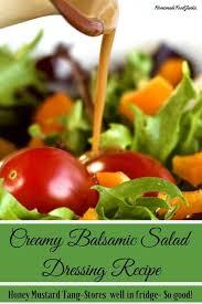 creamy balsamic salad dressing homemade