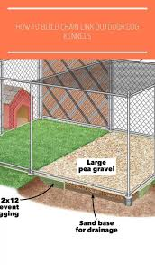 Dog Kennel Designs Chain Links How To Build Chain Link Outdoor Dog Kennels Do Dog Kennel Designs Chain L In 2020 Outdoor Dog Diy Dog Kennel Dog Kennel Outdoor