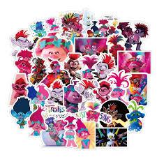 Trolls Cartoon Small Waterproof Sticker Gift For Diy Graffiti On Travel Case Laptop Skateboard Guitar Fridge Sticker For The Wall Sticker For The Wall Decoration From Victoriaport 0 81 Dhgate Com