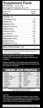 pure isolate whey protein supplement