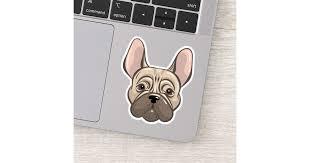 Cute Bulldog Muzzle Sticker Zazzle Com