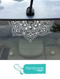 Half Om Mandala Flower Mandala Beautiful Large Vinyl Decal For Car Window Wall Laptop Zen Yoga Meditate Boho Car Decals Vinyl Decals Vinyl Window Decals