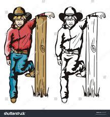 Illustration Cowboy Kid Resting On Broken Stock Vector Royalty Free 1541030