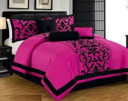 comforter sets pink and black bedding