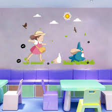 Amazon Com Japanese Kawaii Totoro Wall Art Sticker Adorable Baby Nursery Decor Wallpaper Decal Mural D248s 23 62x35 43 Baby