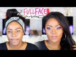 m a c makeup tutorial on black women