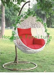 white wicker swing hanging chair swing