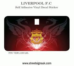 Liverpool F C Self Adhesive Vinyl Decal Sticker For Scooter Toolbox Door