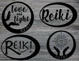 Reiki Spiritual Love Light Vinyl Decal For Car Laptop Home Decor Custom Made Handmade