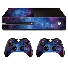 Protective Vinyl Sticker Wrap Skin Bundle Decal Cover For Microsoft Xbox One Console And 2 Controllers Nebula Walmart Com Walmart Com