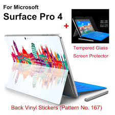 Hot Sale For Surface Pro 4 Stickers Tablet Vinyl Decal Netbook Architecture Skin Explosion Proof Tempered Glass Screen Protector Glass Screen Protector Tempered Glass Screen Protector Vinyl Decals