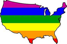 Buy Rainbow Usa United States Gay Pride Flag Vinyl Decal Sticker Great For Truck Car Bumper Or Tumbler Perfect Lgbt Lgbqt Gay Lesbian United States Of America Gift Made In