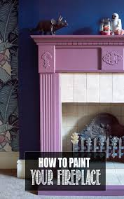 how to paint a fireplace surround