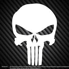 The Punisher Logo Vinyl Decal Car Window Bumper Sticker Select Etsy