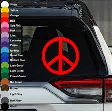 Peace Symbol Car Decal Crazy4decals