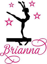 Amazon Com Gymnast Gymnastics Dancing Balance Beam Custom Personalized Name Wall Decal Vinyl Sticker C Jumbo 25 X 34 Inches Home Kitchen