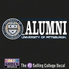 Pittsburgh Panthers Decal Seal W Alumni Over University Of Pittsburgh Panthers