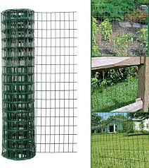 Simpa Multipurpose 1m X 10m Green Pvc Coated Galvanised Steel Wire Garden Fencing Roll Mesh Hole Spacing 10 16cm X 5 08cm Amazon Co Uk Garden Outdoors