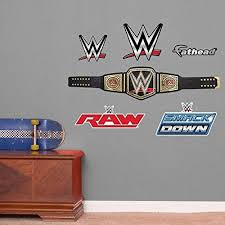 Fathead Wwe Title Belt Junior Peel And Stick Wall Decals Wish