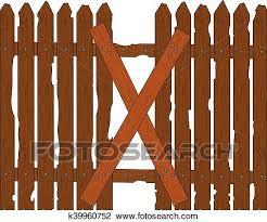 An Broken Wooden Fence Clipart K39960752 Fotosearch
