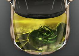 Green Dragon Car Hood Wrap Full Color Vinyl Sticker Decal Fit Any Car Ebay