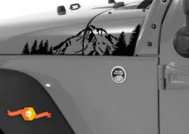 Product 2 Jeep Mountain Forest Rubicon Jk Hood Sticker Decal