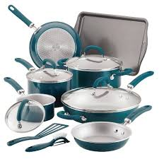 Rachael Ray Create Delicious 13pc Aluminum Nonstick Cookware Set ...