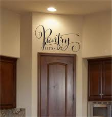 Amazon Com 25 Home Decor Room Wall Stickers Quotes Pantry Let S Eat Pantry Decal For Door Home Kitchen