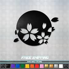 Rising Sun Cherry Blossom Vinyl Decal Sticker Jdm Car Window Racing Japan Flag Ebay