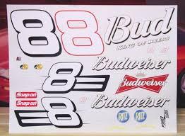 8 Budweiser Dale Earnhardt Jr 1 10 Scale Vinyl Powerslide 1 10 Scale Vinyl
