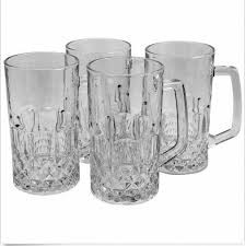 jewelite 4 piece clear glass beer mug