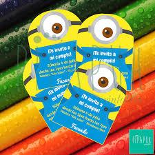 Invitaciones Con Texto Editable De Los Minions De Mi Proyecto