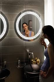narciso mirror wall lamp round