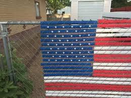 Pexco 4 Ft X 6 Ft American Flag Chain Link Fence Slat Kit Red White Blue Flag Kit The Home Depot American Flag Fence Slats Chain Link Fence