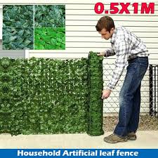 0 5x1m Greening Artificial Hedge Leaves Faux Ivy Leaf Privacy Fence Screen Garden Decor Backyards Decoration Artificial Grass 4 Styles Home Green Decoration Wish